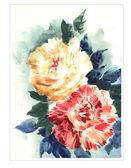 Orginal watercolor flowers — Stock Photo