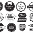 Retro Vector Vintage Seals, Labels, Stamps And Buttons — Stock Vector