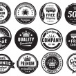 Twelve Scalable Vintage Badges — Stockvector #30840631
