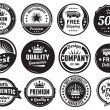 Stock Vector: Twelve Scalable Vintage Badges