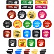 Stock Vector: Safe Packaging Badges And Icons