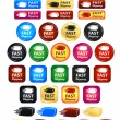 Fast Shipping Box Icons And Buttons — Stockvector #31809639