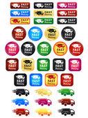 交货快捷图标和按钮 — 图库矢量图片
