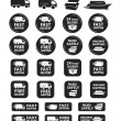 Large Set Of Shipping And Delivery Badges — Imagens vectoriais em stock