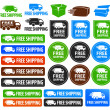 Free Shipping Badges — Stok Vektör
