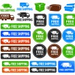 Free Shipping Badges — 图库矢量图片