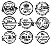 Premium High Quality Guarantee Badges — Stock Vector