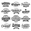 Twelve Vintage Insignias Or Labels — Stock Vector