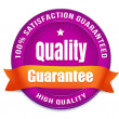 100 Percent Satisfaction Guarantee — Stock Vector