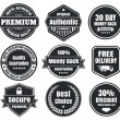 Light And Dark Vintage Ecommerce Badges — Stock Vector #39975305
