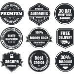 ljusa och mörka vintage e-handel märken — Stockvektor  #39975305