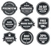 Light And Dark Vintage Ecommerce Badges — Stock Vector
