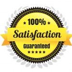 100 Percent Satisfaction Ecommerce Badge — Stock Vector #40403189
