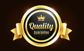 Golden Premium Quality Badge — Wektor stockowy