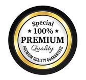 Golden Premium Quality Badge — Stock Vector