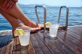Enjoying drinks — Stock Photo