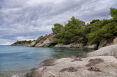 Autumn by the sea, in Sithonia, Chalkidiki, Greece — Foto Stock