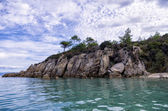 Rocky coast in Sithonia, Chalkidiki, Greece — Stock Photo