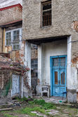 Entrance to an old building in Florina, a popular winter destination in northern Greece — Stock Photo