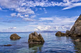 Rocks by the sea in Sithonia, Chalkidiki, Greece — Stock Photo