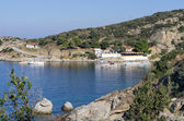Small gulf and dock in Sithonia, Chalkidiki, Greece — Stock Photo