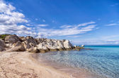 Small secluded beach in Sithonia, Chalkidiki, Greece, like a little paradise — Stock Photo