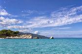 Amazing sea water in Sithonia, Chalkidiki, Greece — Stock Photo