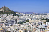 Athens as seen from the Acropolis, on a sunny day — Stock Photo