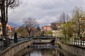 The river of Florina, a winter destination in northern Greece — Stock Photo