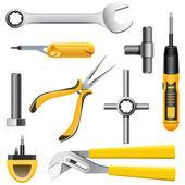 Set gele tools — Stockvector