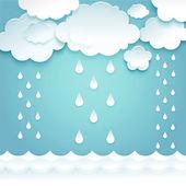 Létání na obloze mraky — Stock vektor