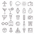 The set of recreation icons — Imagen vectorial