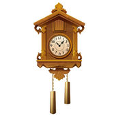 Vintage wooden cuckoo clock — Wektor stockowy