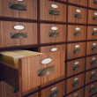 Archive with opened drawer. — Stock Photo