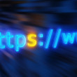 Https protocol text background — Stock Photo
