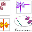 Stock Vector: Bows
