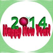 With the new year 2014! — Stock Vector