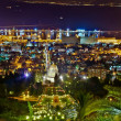 Bahai Gardens at night — Stock Photo