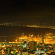 Night view of Haifa and Haifa Bay — Stock Photo