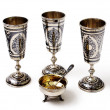 Silver wine cups — Stock Photo
