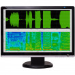 Digital signal processing. Spectrogram of audio signal. — Stock Photo #29552459