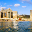 Haifa. Panoramic view from seover beach Carmel and hotels. — Stock Photo #29675815