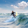 Surfers riding mediterranewave — Stock Photo #29679435