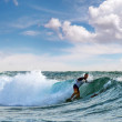 Surfers riding mediterranewave — Stock Photo #29736769