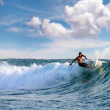 Surfers riding mediterranewave — Stock Photo #29736785