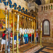 Church of Holy Sepulchre. stone of unction — Stock Photo #29819897
