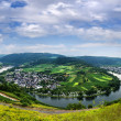 Stock Photo: Panorama of the valley of the Moselle river. Germany.