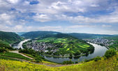 Panorama of the valley of the Moselle river. Germany. — Stock Photo