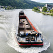 Сargo ship on the river Moselle. Germany. — Stock Photo