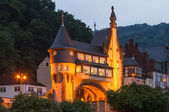 Entrance to the bridge over the River Moselle in Traben-Trarbach. — Stock Photo